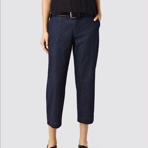 All Saints Callie Culottes Denim Jeans Crop Pants